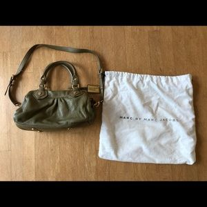 Marc by Marc Jacobs small olive green shoulder bag